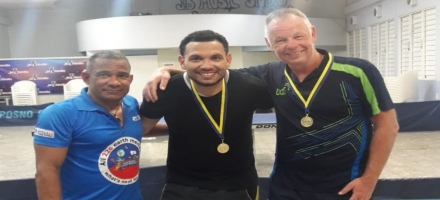 Table tennis champion doubles Bonaire with Almar Nicolaas